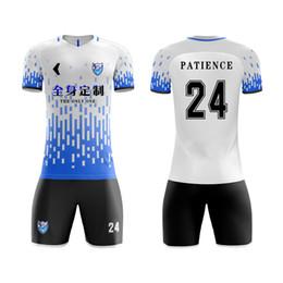 Camisetas de entrenamiento baratas online-Venta al por mayor uniformes de la mejor calidad Football Shirt Maker Cheap Soccer Jersey Training Suit Football Wear