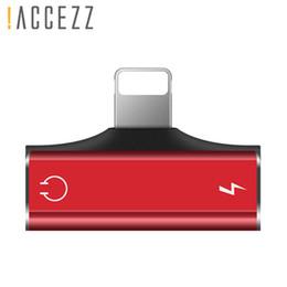 Diviseur de câble auxiliaire en Ligne-! ACCEZZ Dual Lighting Charger Appeler Écoute Adaptateur Pour iphone X 8 7 Plus XS MAX XR Adaptateurs de charge AUX Splitter Cable