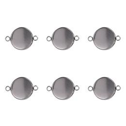 10 unids Redondo de Plata Cabochon En Blanco Colgante Base de Gema Ajustes Bandeja Fit 6 8 10 12 14 16 25mm DIY Pulsera Collares Hallazgos desde fabricantes