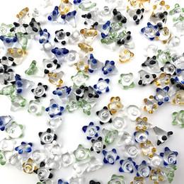 Agujero de la flor online-El más barato policromático Pyrex Glass pearl Nail para tubo de vidrio Bowl Hole Daisy Flower pantalla Cuarzo banger fumar bong Dab Rig Accesorios