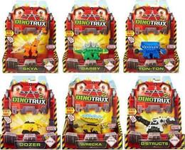 Nuovi camion di giocattoli online-Con scatola originale Dinotrux Dinosaur Truck Dinosaur rimovibile giocattolo auto Mini modelli Nuovi regali per bambini Dinosaur Modelli J190525