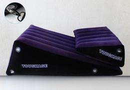 2019 sex-rampen Neue tragbare Sex Möbel TOUGHAGE Sofa Kissen Verband Position unterstützen aufblasbare Erwachsene Luftmatratze Rampen Kissen Spielzeug mit Luftpumpe günstig sex-rampen