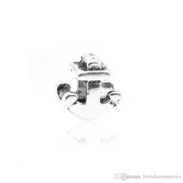 565c8ba1 Brillante de plata de metal suelta perlas de aleación ancla talla océano  encantos del tema adapta Pandora pulseras brazalete colgante DIY accesorios  de ...