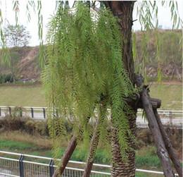 2019 piantati cestini appesi Pianta simulata appeso a parete fiore verde piantare soggiorno balcone decorazione della parete appeso cesto fiore arte salice foglia rattan W1233 sconti piantati cestini appesi