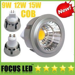 COB Lâmpadas LED 9W 12W 15W Dimmable Led Spot Light GU10 MR16 E27 E14 GU5.3 B22 Lâmpada Spotlight Downlight Bombilla Window Closet Luzes Display de