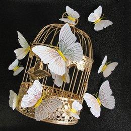 Quarto frigorífico on-line-Ambilight 3d borboleta adesivo de parede borboletas decoração de casa decoração do quarto imã de geladeira adesivos de parede para o casamento