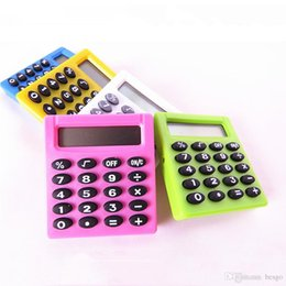 2019 moda financeira Cálculo Digital 5 Cores Estudante Digital Eletrônico Mini Calculadora Portátil Ao Ar Livre Baterias Calculadoras de Bolso Home Office BH1271 TQQ