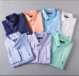 camisa verificada nova Desconto 19 Marca dos homens de Negócios camisa Ocasional dos homens de manga longa listrada slim fit camisa masculina social masculino T-shirts new fashion man checked shirt25