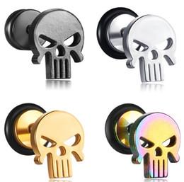 2019 cinturas de ouvido de aço inoxidável 100 PCS Ear Studs Tapers Tapers de Aço Inoxidável Falso Falso Falso Tampões de Ouvido Brincos Body Piercing Jóias 4 Cores cinturas de ouvido de aço inoxidável barato