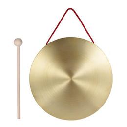 22 см ручной Гонг латунь медь часовня Опера перкуссия с круглой игры молоток от