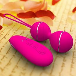 Ben palle online-7 velocità di controllo remoto Kegel palla vaginale esercizio TightIing uova vibranti Geisha palla Ben Wa Balls doppio vibratore giocattoli del sesso per le donne