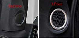 2020 altoparlanti cromati 2PCS / set decoration copertura interna Front Door Speaker pagina della copertura Trim ABS Chrome per Freelander 2 2011-2015 sconti altoparlanti cromati