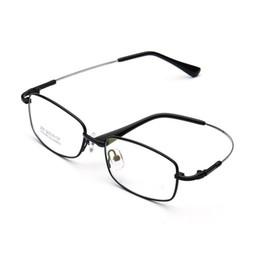 f1c88836ef Nueva memoria Elastic Temple marca marcos de anteojos hombres borde  completo Galjanoplastia aleación de titanio óptico masculino gafas de  lectura marcos ...