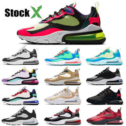 Scarpe da ginnastica bianca online-Nike Air Max 270 React Nuovo Top Quality Mens 270 reagire EPIC Running Shoes Womens Sneakers Fashion paracadute Hip Hop Triple Nero Hype Bianco Grigio Coral Sneakers