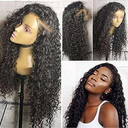 Parrucca anteriore del merletto 360 Pizzica pre-pizzicata Water Wave Curly per le donne nere Parrucca sintetica del merletto brasiliano Glueless capelli 150% Densità 14 pollici da