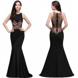 Real Photo Black Mermaid Robes de soirée formelles avec applications de broderie Jewel Neck Illusion taille Retour robes de bal en ligne Vente CPS716 ? partir de fabricateur