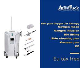 Jet pens online-New Arrival oxygen jet peel skin rejuvenation facial beauty machine Sprayer water oxygen pen suction pen BIO face lift