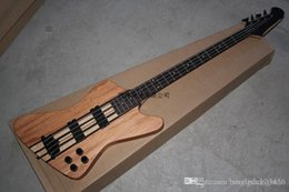 one piece neck bass guitar Coupons - Free Shipping Thunderbird Classic IV burlywood Electric Bass guitar Custom one-piece set neck 4 Strings Bass Guitar