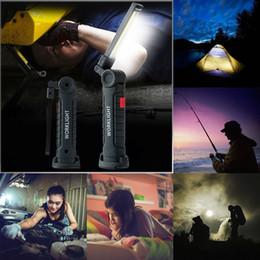 Lectura de linterna online-Linterna portátil COB Luz de trabajo Lanterna Led Luz de camping Lámpara recargable USB Magnética 5 modos para tienda Libro de lectura SOS