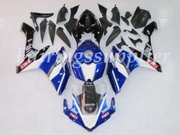 2019 schemi di equilibratura Nuovo (stampaggio a iniezione) ABS carenatura Kit Fit For (Yamaha YZF-R1) 2007 2005 2008 carenature impostato motivo bianco e blu schemi di equilibratura economici