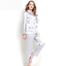 2019 nuovi pigiami da donna pigiama in raso da donna per donne dormono vestiti 509 da pigiami di seta gialli fornitori