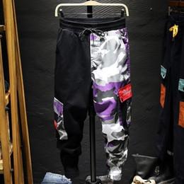2020 pantaloni lunghi alla caviglia per gli uomini Pantaloni cargo Camouflage Uomo Patchwork Hip hop Pantaloni larghi Tasca Streetwear Pantaloni alla caviglia Techwear SH190915 sconti pantaloni lunghi alla caviglia per gli uomini