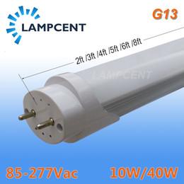 taches blanches en plastique Promotion T8 LED Tube Ampoule G13 BI-Pin 2FT 3FT 4FT 5FT 6FT 6FT Lampe fluorescente Shop Light 2-100 ampoules / Carton