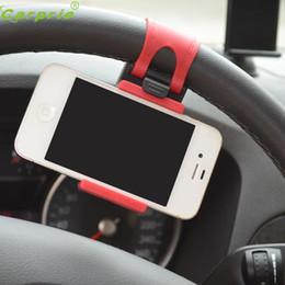 2019 soporte montado en el volante del teléfono celular Auto Car Steering Wheel Phone Soporte de montaje universal para teléfono celular GPS Dec12 soporte montado en el volante del teléfono celular baratos