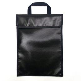 Ignifuge Étanche Dossier Dossier Sac Pour Documents Qualité Portable Document Sacs Sacs Ménage Bureau Métal Précieux Bill Safe Bag ? partir de fabricateur