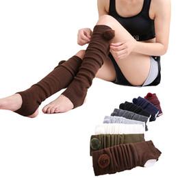 1 пара женщин йога носки с открытым пятки зима сгущаться теплые бахилы колено высокие длинные чулки гетры пилатес фитнес ежедневно от