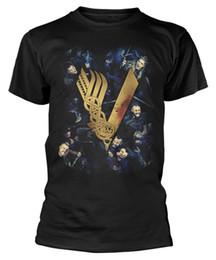 chemise vikings Promotion Vikings 'Fight' T-Shirt - NOUVEAU OFFICIEL! Hommes Femmes Unisexe Mode T-shirt Livraison Gratuite