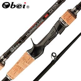 2019 5g señuelo Obei perigee 1.8m 2.1m 2.4m 2.7m 3 sección baitcasting caña de pescar de viaje ultraligero spinning señuelo 5g-40g M / ML / MH Rod 5g señuelo baratos