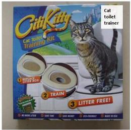 petite toilette en plastique Promotion Citi kitty Dresseur de toilettes pour animaux de compagnie Chiot Nettoyant de toilettes pour chat Kit de formation pour chat Expédition directe Boîte de vente au détail
