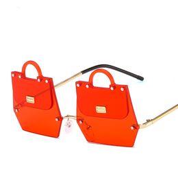 Mode neue Sonnenbrille Frauen Sonnenbrille Tricolor New Sliced Bag 2019 Sonnenbrille Mode Retro Dual-Use cool Frameless beliebte Sonnenbrille von Fabrikanten