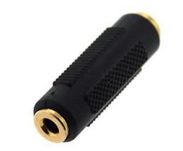 2019 tipos de conectores de altavoz Chapado en oro dorado DC 3.5 mm Hembra a 3.5 mm Hembra Acoplador estéreo Adaptador Aux Conectores de audio para unir los cables auxiliares 100pcs / lot