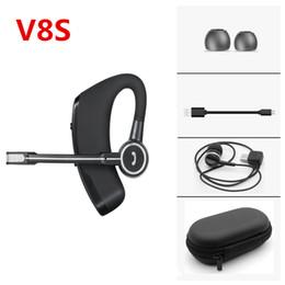 V8S Ear Hook Auriculares de conducción para empresas PK Mini i7s i9S i11 In-ear TWS Auriculares inalámbricos Bluetooth Auriculares Estéreo Auriculares Manos libres Micrófono desde fabricantes