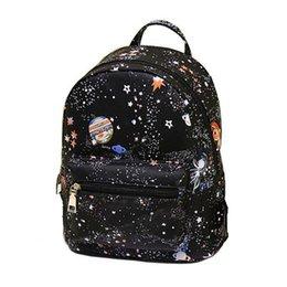 Couleur de la poche galaxie en Ligne-Nouvelle Couleur Nylon Matériel Sac À Dos Des Femmes De La Mode Galaxy Impression Sac À Dos Tendance Haute Qualité Filles 'School Bag