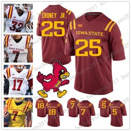 c809c505144 2019 NCAA ISU Iowa State Cyclones #4 Zeb Noland 5 Allen Lazard 7 Joel  Lanning Red Yellow White Football Men Youth Kid Jersey