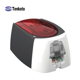 cópia do pvc do cartão Desconto Impressora de cartões USB 300 DPI com software de associação ao banco de impressão VIP Chip IC magnético NFC OEM Impressora de cartões em PVC