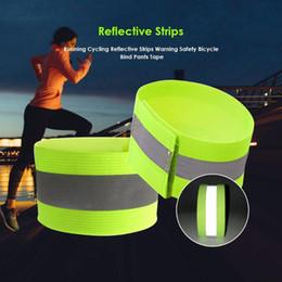 Correndo Strips Ciclismo reflexivos aviso de segurança da bicicleta Bind Calças Mão Leg Strap Reflective Tape de Fornecedores de baterias do poder rei