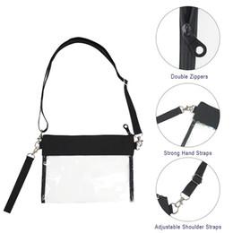 Clear Crossbody Purse Bag Clear Shoulder Tote Bag with Adjustable Shoulder Strap Wrist Strap  ZJ55 от Поставщики шипованных бумажник мужчины