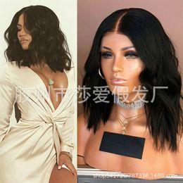 perücken farben Rabatt Sha Love Perücke Vordere Spitze Kopfbedeckung Natürliche Farbe Echte Person Perücke Bodywave C18122901