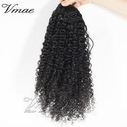 2019 cabelos loiros curtos naturais da trama VM afro Kinky cabelo encaracolado Natural Virgem preta brasileira de cabelo 100% não transformados 12-30inch 3A 3B 3C 4A 4B 4C grampo em extensões de cabelo humanos