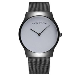 Nueva moda de cuarzo Relojes para hombres Ropa impermeable Accesorios de acero inoxidable Relojes de pulsera simples Montre homme desde fabricantes