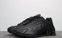 timeless design 0f7e5 ddd89 Livraison gratuite 2019 Femmes Hommes Shox R4 Triple Noir Chaussures De  Basket-ball Blanc Argent Comète Rouge Noir Shox R4 Sneakers Nous Taille 5-13