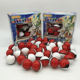 game elf Coupons - Pikachu Cartoon Mini Ball with Doll Card Stickers PokeBall Tap Pvc Ball Classic Toys Magic Baby Anime Elves Game Ball Toy 36Pieces Lot