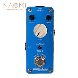 e-gitarre verzögerung effekte pedal Rabatt NAOMI Gitarren-Effektpedal Aroma ABS-3 Blues Mini-Gitarren-Effektpedal High Gain-Ausgang Truebypass Gain-Ton-Pegel einstellbar Neu