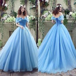 promenade della farfalla dell'abito di sera Sconti 2019 New Off Spalle Perline Farfalla Organza Lungo Backless Ball Gown Abiti da sera reale Immagine reale Cenerentola Blu oceano Prom Dresses