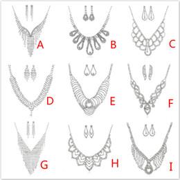 Роскошные модные ювелирные наборы многослойные кисточка горный хрусталь серьги ожерелье набор женщин колье серьги для вечеринки и свадьбы от Поставщики регулируемые ожерелья