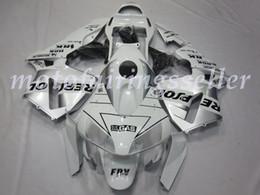 Repsol argento bianco online-OEM qualità Nuovo ABS Carene complete Kit misura per HONDA CBR600RR F5 2003 2004 03 04 600RR Carrozzeria set Bianco Argento Repsol